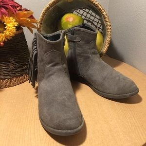 Sam Edelman Circus Gray Suede Ankle Boots